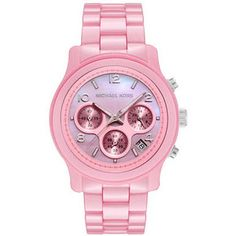 Michael Kors MK5194 Women's Chronograph Pink Mother Of Pearl Dial Pink Ceramic Watch