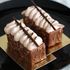 Caramel and chocolate candy bar entremet - moist caramel cake, caramel mousse and milk Chocolate Chantilly cake. (in Hebrew)