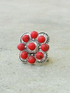 Stationed Red Navajo Ring [2129] - : Vintage Inspired Clothing & Affordable Summer Dresses, deloom | Modern. Vintage. Crafted.