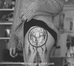 tattoo dreamcatcher idea tattoos art design style girls picture image http://www.tattoo-designiart.com/tattoos-designs-for-girls/dream-catcher-tattoo-design-23/