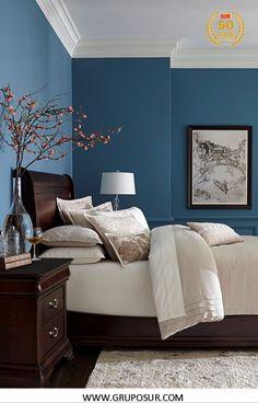 Una decoración muy elegante con el uso del color Raven Sky 2384D