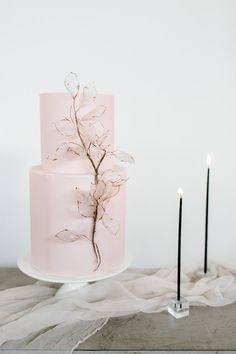 How to style a modern art gallery wedding - 100 Layer Cake Blush Wedding Cakes, Wedding Cakes With Flowers, Beautiful Wedding Cakes, Beautiful Cakes, Cake Wedding, Wedding Bands, Wedding Venues, Bouquet Wedding, Wedding Things