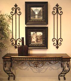 Love: - wrought iron - console table
