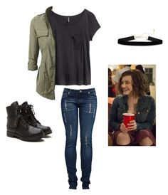 """So apparently I look like Hannah Baker.. -Trent"" by johndeerebabe on Polyvore featuring H&M"