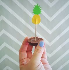 Pineapple Food Flag by ChaoticCollected on Etsy