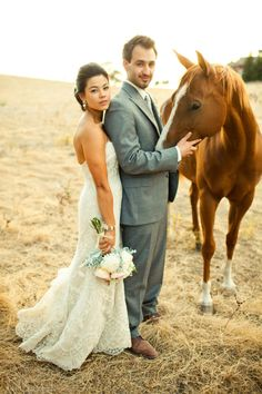 Petting zoo meets wedding = Love.