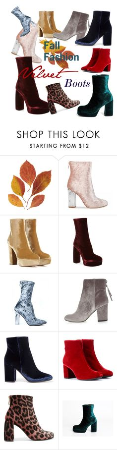 """Fall fashion: velvet boots"" by georgia-grace-sheldon ❤ liked on Polyvore featuring Gianvito Rossi, Miu Miu, River Island, Yves Saint Laurent and STELLA McCARTNEY"