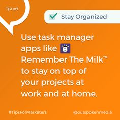 Every marketer should use a task manager app for organization Marketing Tools, Digital Marketing, Tool Belt, Management, Organization, App, Getting Organized, Organisation, Apps