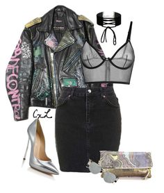 """""""Untitled #123"""" by clynnstyle on Polyvore featuring Topshop, Miss Selfridge, Casadei, Tovi Sorga and Linda Farrow"""