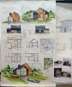 Collection of Hand Drawn Architecture presentation Sheets from around the world. - The A Fact Architecture Concept Drawings, Architecture Sketchbook, Architecture Board, Architecture Design, Architecture Magazines, Planer Layout, Architecture Presentation Board, Interior Sketch, Hand Drawn