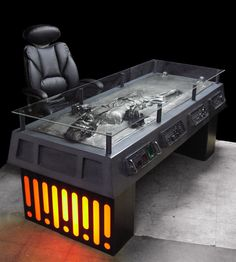 Han Solo desk - THIS SHOULD BE IN EVERY OFFICE!!