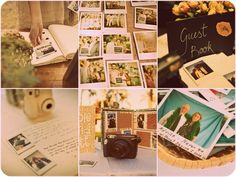 It is going to be a toss up between Polaroids or a Photobooth for the guest book.
