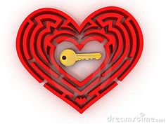 heart labyrinth | Key In The Center Of Labyrinth In Form Of Heart Stock Photos - Image ...