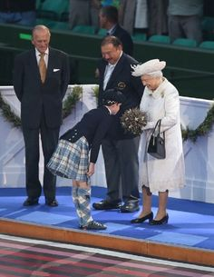 Queen Elizabeth II and  Prince Philip, Duke of Edinburgh during the Opening Ceremony of the 20th Commonwealth Games at Celtic Park, 23.07.2014 in Glasgow, Scotland.