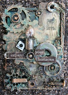 Michelle Grant desiGns: Dusty Attic - September ATC Challenge - Steampunk