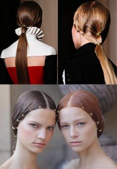 Les plus belles coiffures Valentino sous le règne du duo Maria Grazia Chiuri et Pierpaolo Piccioli