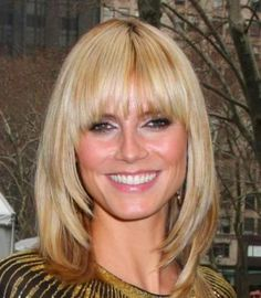 Medium Length Hairstyles With Fringe For Fine Hair - hair styles for short hair Mid Length Hair With Layers, Medium Length Hair With Bangs, Medium Length Blonde, Medium Hair Styles, Short Hair Styles, Hair Medium, Big Bangs, Fringe Hairstyles, Hairstyles With Bangs