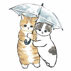 Cute Animal Drawings, Kawaii Drawings, Wallpaper Gatos, Arte Sketchbook, Dibujos Cute, Kawaii Art, Cat Drawing, Cute Illustration, Cute Doodles