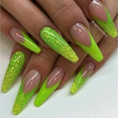 Neon nail art design makes your nails bright and shiny. The energy you can see in neon nails. When you wear neon nails, you can choose yellow. This is an attractive article. Today, we have collected 77 stunning yellow neon nail art designs to beau Glam Nails, Neon Nails, Dope Nails, Fancy Nails, Matte Nails, Glitter Nails, Neon Nail Designs, Acrylic Nail Designs, Nails Design