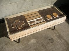 A fully functional Nintendo controller coffee table. Wait, let me repeat that. It's a fully functional Nintendo controller coffee table. Do It Yourself Furniture, Cool Furniture, Furniture Ideas, Geek Furniture, Furniture Design, Quality Furniture, Table Furniture, Office Furniture, Modern Furniture