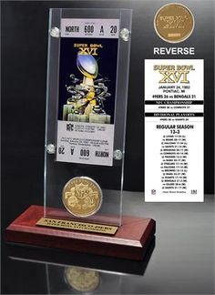 Super Bowl 16 Ticket & Game Coin Collection
