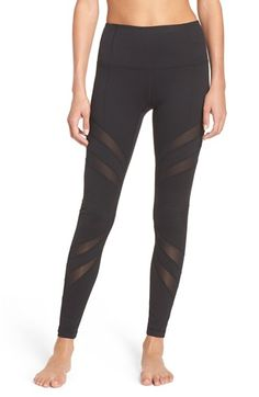 Free shipping and returns on Zella 'Splice it Up' High Waist Leggings at Nordstrom.com. Mesh insets curve around your legs and cool you down as your workout warms up in stretchy, figure-sculpting leggings with a high, slip-free waistband.