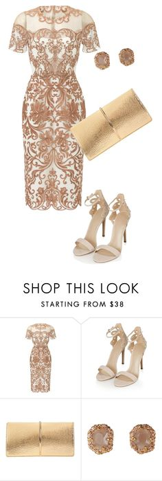 """""""Wedding guest outfit"""" by anamariameciu on Polyvore featuring Notte by Marchesa, Topshop and Nina Ricci"""