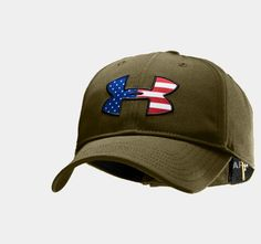 Men's Big Flag Logo Adjustable Cap   1219732   Under Armour US