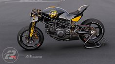 """Ducati Cafe Racer design """"Ms2R-Tex"""" by Paolo Tex design"""