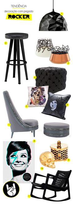 rock n roll furniture and decor #decor #rocknroll