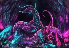 Crystal Dragon  #dragon #dragons #myths #fantasy #magic #fiction #mythical
