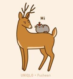 Pusheen & Reindeer