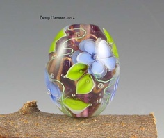 Forget-me-nots Lampwork Focal Bead Lampwork Beads, Pretty Flowers, Glass Beads, Forget, Pendants, How To Make, Inspiration, Products, Biblical Inspiration