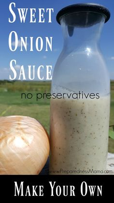 A healthy alternative: Make your own sweet onion sauce with simple ingredients and no preservatives and replace store bought dressing. Freeze in ice cube trays, then baggie the cubes for storing. Spice Blends, Spice Mixes, Como Hacer Salsa Bbq, Sauce Recipes, Real Food Recipes, Healthy Recipes, Healthy Food, Healthy Junk, Dinner Healthy