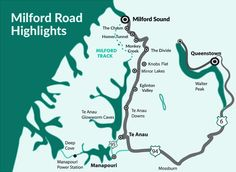 View Milford Sound maps and information on how to get to Milford Sound, plus what to see when you arrive at this amazing destination. Milford Track, Milford Sound, Sound Map, New Zealand South Island, Mirror Lake, Fjord, Travel Info, Amazing Destinations, Road Trip