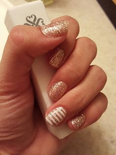 Jamberry trushine gel with white stripe wrap accent. Gel color- Party dress   https://themagicofjams@jamberry.com