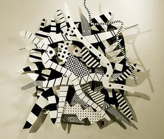Abstract Relief Sculpture: based on the work of Detroit artist Charles McGee
