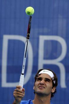 Twitter / WeAreTennis: Roger Federer working on his ...