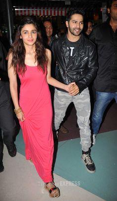 Varun Dhawan and Alia Bhatt promoting Humpty Sharma Ki Dulhaniya in Mumbai.