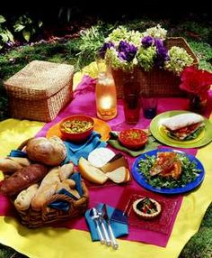 "This looks nice for a Wine & Cheese Party idea too:  ""Picnic Menu Ideas for the Perfect Picnic.... so nice"""