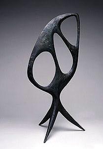 """Alexander Calder: Pierced Stone, 1944 Bronze  36 3/8"""" x 16 1/2"""" x 16 1/2""""  A00229"""