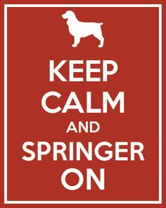 Keep Calm and Springer On Silhouette Print by NestedExpressions, $15.00