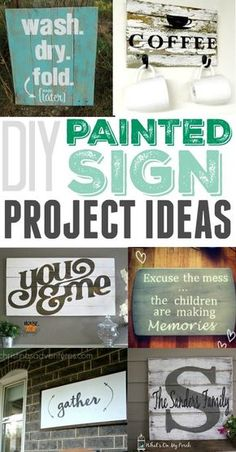 Love how simple these are to make and what a big impact they have in a room! wood projects to sell at craft shows it! Make certain to check out this remarkable product. Wood Projects For Beginners, Diy Wood Projects, Wood Crafts, Easy Projects, Pallet Crafts, House Projects, Painted Signs, Wooden Signs, Wooden Boards