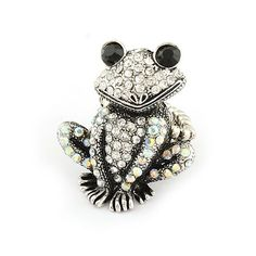 Cutie Frog Rhinestone Fashion Ring (Adjustable Band) from LilyFair Jewelry, $13.99!
