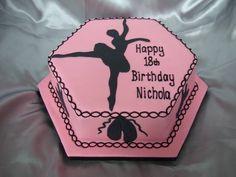 ballerina cake ~ pink & black ~ a more 'grown up' ballet cake