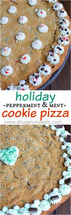 Peppermint or Chocolate Mint? You choose which Holiday Cookie Cake your family will enjoy this year!