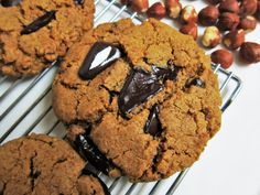 Vegan Hazelnut Butter Cardamom Chocolate Chunk Cookies | Fragrant Vanilla Cake