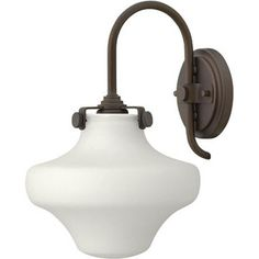 Congress Oil Rubbed Bronze 13 Inch One Light Sconce Hinkley 1 Light Armed Glass Wall Sconc
