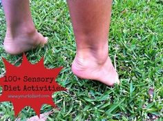 100+ Sensory diet activity suggestions for the home environment when you don't have access to a sensory gym.