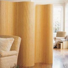 Paravent, Raumteiler, Trennwand, Wand, Sichtschutz aus Bambus - Farbe: CLASSIC